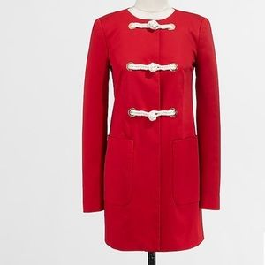J. Crew Red Rope Toggle Jacket